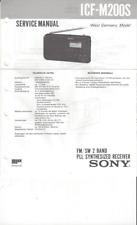 Sony Original Service Manual für ICF- M 200 S englisch komplett