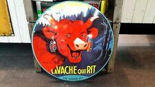 Plaque émaillée vache qui rit fromage 50 cm
