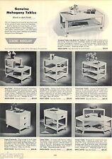 1953 ADVERT 2 Pg Mid Century Modern Barton Blond Mahogany Table Step Furniture