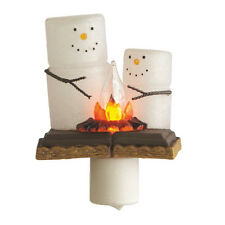 Christmas S'mores Campfire Flicker Night Light
