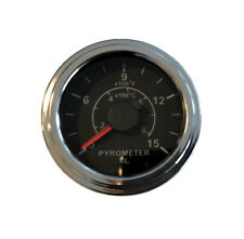 "Pyrometer 0-1600F EGT gauge, 2""/52mm, with 6.5 ft (2M) long K thermocouple probe"