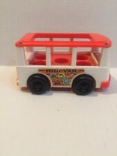 Fisher Price Little People Vintage Family White & Red Mini Van