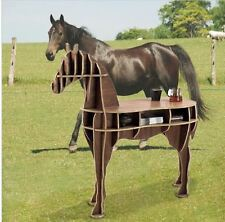"""48.8"""" horse desk horse coffee table solid wooden home furniture FSC-certified"""