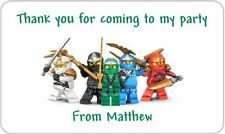 24 Personalised Lego Ninjago Birthday Party Goody Bag Sweet Cone Stickers