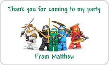 24 personnalisé LEGO NINJAGO Fête d'anniversaire pochette surprise confiserie