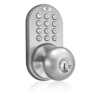 Keyless Digital Door Knob House Lock Keypad Home Entry Code Password Combination