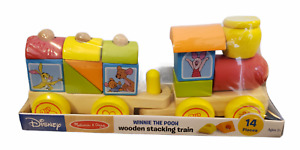Disney Melissa & Doug Winnie the Pooh Wooden Stacking Train Brand New