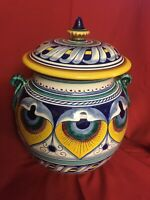 Ex. Large Pot with Lid Fratelli MariI Deruta Made in Italy For Amano