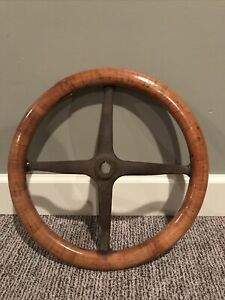 Vintage FORD Authentic Wood Steering Wheel 4 Spoke Model A or T RARE Car Truck