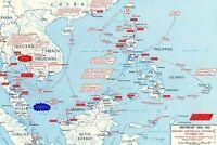 1942 WW2 JAPAN JAPANESE PACIFIC WAR EMPIRE ASIA CHINA TAIWAN MAP KOREA Postcard