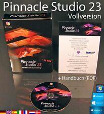 Pinnacle Studio 23 Vollversion Box + DVD HD Videosoftware + Handbuch PDF OVP NEU