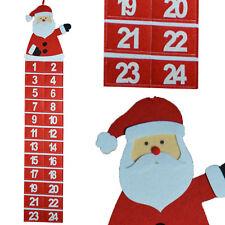 Noël feutre pendant Père Calendrier de l'Avent - Ajoutez votre propre Treats