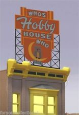 Miller's O/O27 Who's Hobby House Animated Neon Sign #88-1401 MILLER ENGINEERING