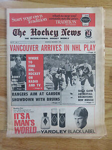 The HOCKEY NEWS Dec 4, 1970 Newspaper DENNIS HEXTALL Record BOBBY HULL ORR Ad