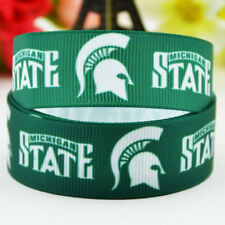 50yards 22mm Michigan state sport team ball printed Grosgrain Ribbon party