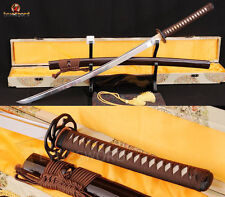 "41"" Japanese Samurai Katana Sword 1060 Carbon Steel Full Tang Sharp Can Cut Tree"