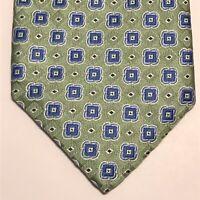 """ROBERT TALBOTT """"CARMEL"""" Men's Tie Green Blue Geo 58L 3.5W USA NWOT Retail - $135"""