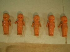 "Vintage 1930'S Dionne Quintuplets Dolls 3 1/4"" Tall - No Box"