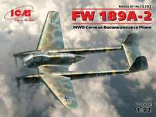 ICM 1/72 FW 189A-2 WWII German Reconnaissance Plane #72292 *sEALED*nEW*