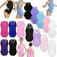 Child Kids Girls Ballet Dance Leotards Unitards Gymnastics Workout Sport Costume