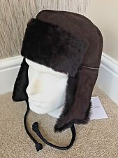 69be55a161e Paul Smith Brown Sheepskin Trapper Hat Size S Retail Made in England