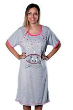 Maternity Women's Nightshirt Nursing Nightdress Pregnancy Breastfeeding Nightie