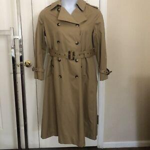 Vintage Saks Fifth Avenue Camel Trench Coat/ Rain Coat Size 10
