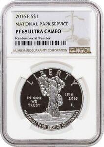 2016 P $1 National Park Service Centennial Commemorative Silver Dollar NGC PF69