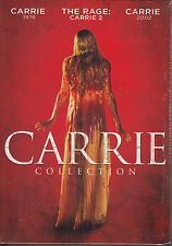 Carrie Collection: Carrie-1976 / Carrie 2 / Carrie-2002  (DVD, 3-Disc Set) New