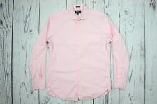 J.CREW Thompson Shirtings Pink Checkered Button Front Dress Shirt Sz. M