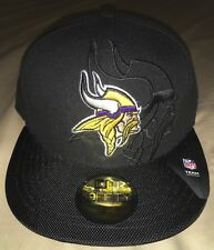 f14549207 Minnesota Vikings New Era Black 2016 Sideline Official 59FIFTY Fitted Hat 7  1 4