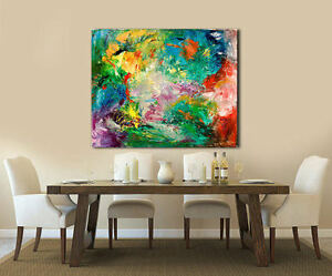 Hand Painted Abstract Painting, Acrylic on Canvas, Modern Wall Art, CELEBRATION