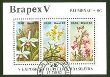 BRAZIL Scott# 1792a-c Souvenir Sheet 1982 - V Brapex Stamp Exhibition-Blumenau