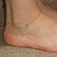 Hamsa Hand of Fatima Ankle Bracelet.