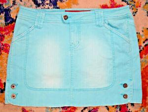 Vintage 90s Guess Jeans Aquamarine Mini Jeans Skirt W29 L13 Top Tier superb