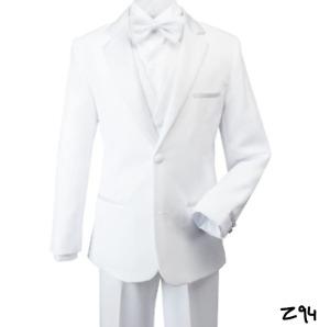 Spring Notion Big Boys' Modern Fit Tuxedo Set, No Tail 14 White ~ Z94
