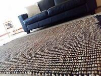 Cotton Jute Plain Weave Handwoven Rug 120x180cm - Limited Stock