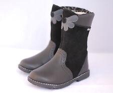 Girls Startrite Casual Zip Fastening BOOTS Aqua Flower UK 7 Black F