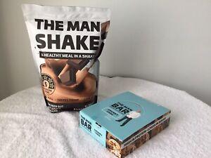 The Man Shake Chocolate Weight Loss Shake + Chocolate bars *Free Express Post*