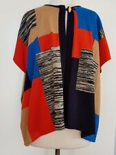 COUNTRY ROAD Bright Coloured Poncho/Vest Size L
