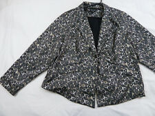 City Chic XL Animal Print One Button Jacket