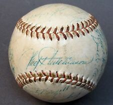 1955 SEATTLE RAINIERS PCL team signed autographed BASEBALL 23 Signatures
