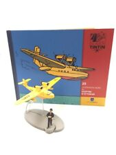 En Avion Tintin l'hydravion jaune sceptre d'ottokar  N25 + livret