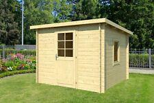 34mm Gartenhaus 300x300 cm Gerätehaus Holzhaus Holz Blockhaus Schuppen Hütte Neu