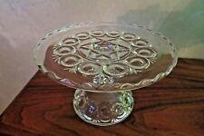Ohio Flint Glass Co Mignon #444 EAPG Footed Torte Platter circa 1895