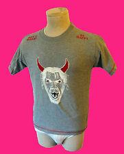 Don't WORRY be HAPPY satan goat gothic face vtg satanic pentagram devil