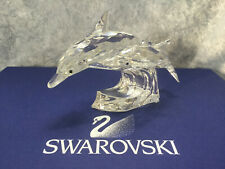 Swarovski Scs 1990 Mother & Child Lead Me Dolphins with Box