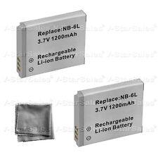 2x NB-6L NB-6LH Battery + BONUS for Canon SD1200 SD3500 SD4000 SX240 SX260 SX500