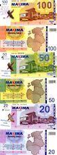 LITHUANIA set of 3v: 20, 50, 100 Litu shopping certificates Maxima AU-UNC