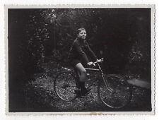 PHOTO Snapshot Vélo Bicyclette Cyclisme Bike Enfant Garçon vers 1930